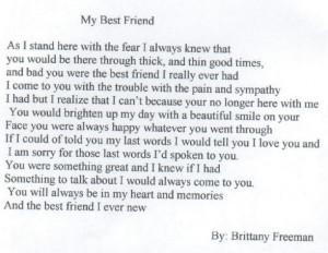 hd best friend poem amazing best friend poem