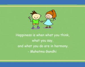 Gandhi Happiness Harmony Printable Quotes