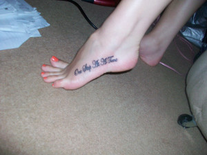 Cute Foot Tattoo Quotes