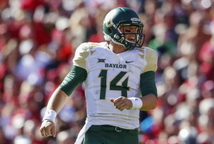 Nov 8, 2014; Norman, OK, USA; Baylor Bears quarterback Bryce Petty (14 ...