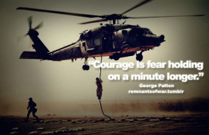 Courage is fear holding on a minute longer