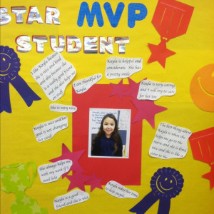 My star student board...student quotes about each star student