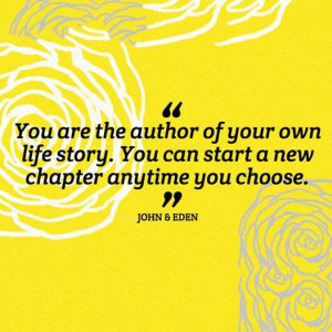 you can start a new chapter