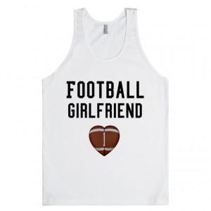 Football Girlfriend tank top tee t shirt
