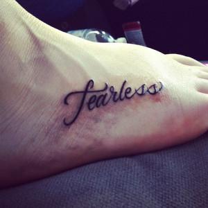 fearless #tattoo #fearless tattoo #taylor swift #swiftie