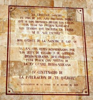 Salamanca Don Quixote Quote