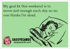 Weekend Goal - #ecard #humor For more quotes and jokes, check out my ...