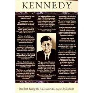 24x36) John F Kennedy (Quotes) Art Poster Print