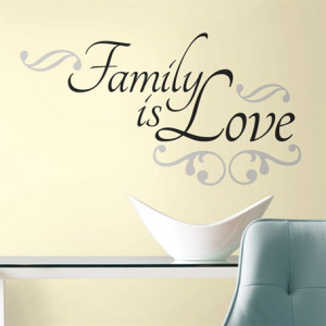 Family is Love Quote Wall Stickers