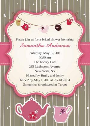 Rustic floral bridal shower invitations EWBS023