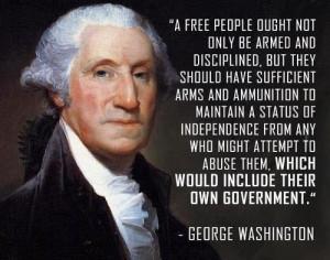George Washington. Hit the nail on the head. America needs to wake the ...