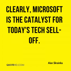 Clearly, Microsoft is the catalyst for today's tech sell-off.