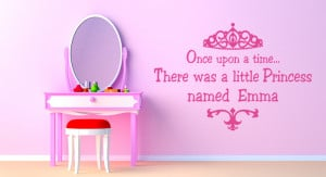 ... little princess names (your childs name) - Personalised Wall Art Quote