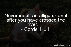 funny-Never insult an alligator until after you have crossed the river ...