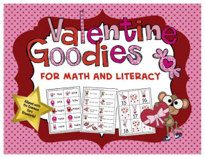 NEW! Valentine Goodies for Math and Literacy
