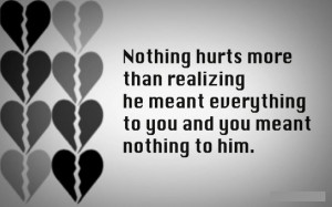 "... Meant Everything To You And You Meant Nothing To Him "" ~ Sad Quote"