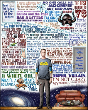 An Illustration of Sheldon Cooper's Quotes From The Big Bang Theory