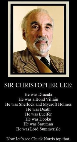 christopher lee, horror movies, horror, chuck norris