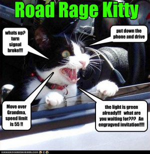 Road Rage and aggressive driving could raise your car insurance rates!