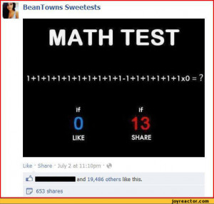 Funny Humor Pictures Math Test