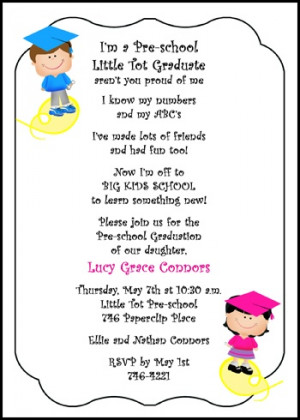 preschool graduation announcements and invitations for little pre-k ...