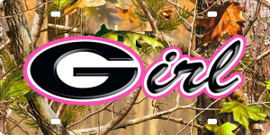Georgia Girl bulldogs License Plate, Georgia Girl bulldogs License Tag