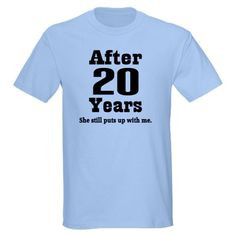 20th Anniversary Funny Quote Wedding anniversary Light T-Shirt by ...