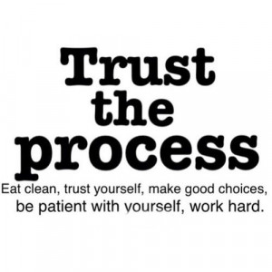 ... trust yourself make good choices be patient with yourself work hard