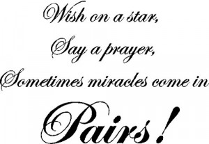 Wish on a star...Twins Wall Quotes Sayings Words Removable Nursery ...