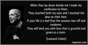 More Leonard Cohen Quotes