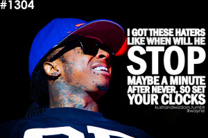 Lil Wayne Hater Quotes Tumblr Lil wayne hate.