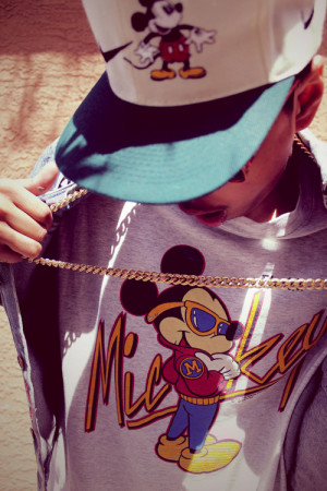 swag hip hop dope fresh dude Gangster swagger mickey mikey mouse