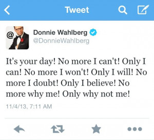 Donnie Wahlberg's tweets