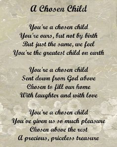 Adoption Poem for Adopted Child Digital INSTANT DOWNLOAD via Etsy More