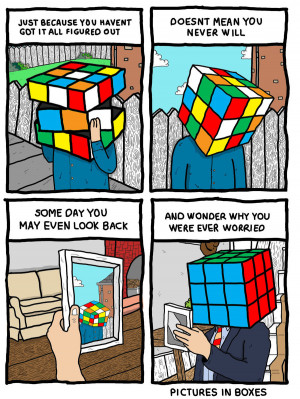 worry stress Rubik's cube comic Try not to worry. Just because you ...