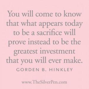 gordon b. hinckley... I think of my kids, am so glad....