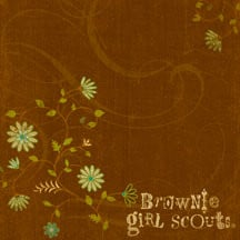 ... Company - 12x12 Paper - Brownie Girl Scouts Collection - Brown Swirl