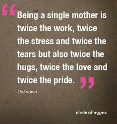 Being a single mother