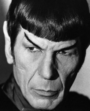 Leonard Nimoy giving a Smouldering Vulcan look