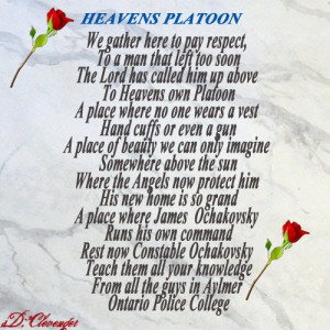 Poems for Police Officers killed in the line of Duty.