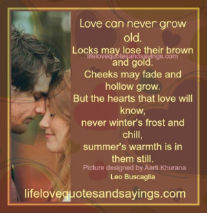 Love Can Never Grow Old..