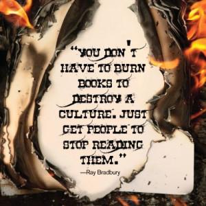 quote from Ray Bradbury. Please repin.Bradbury Fahrenheit, Fahrenheit ...