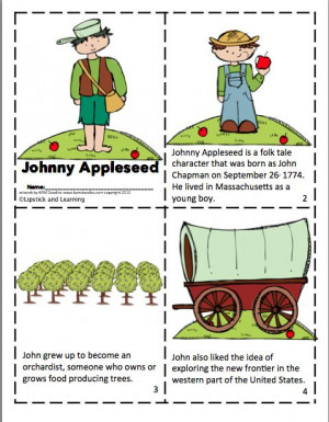 Johnny Appleseed Mini Reader!Johnny Appleseed