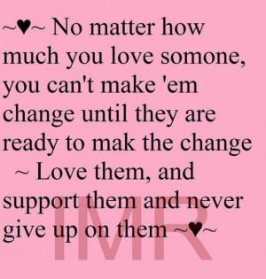 No matter how much love