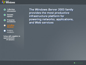 Shutdown window in Windows Server 2003 Web (Shut Down Windows)