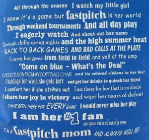 softball mom sayings