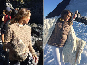 Chrissy Teigen Models UGG Boots in Iceland, Eats Soup Cooked on ...