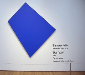 colorfield and minimalism for example ellsworth kelly s blue panel