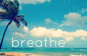 Zen Inspirational Quote Print | Beach and Ocean Photography | Breathe ...