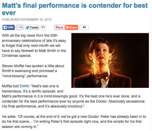 ... (20) Gallery Images For Doctor Who Quotes Matt Smith Regeneration